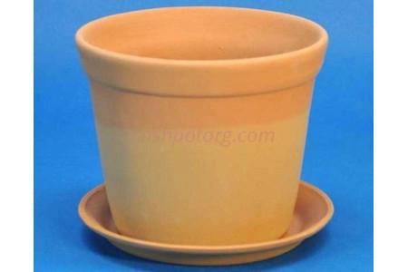 Горшок для цветов керамический с поддоном Юкка (тер) d11см