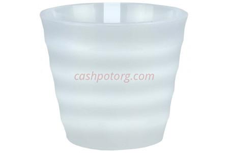 Горшок для цветов пластиковый Лаура с под. 2,3л (прозр-прозр) ЛР1700