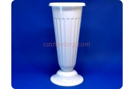 Ваза пластиковая для срезанных цветов «м5352 белая» h-44см