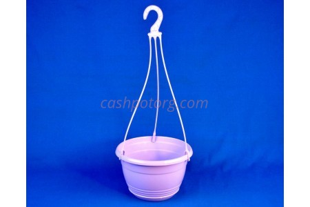 Горшок для цветов пластиковый с поддоном подвесной Глория 4,2л (лаванда)