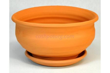 Горшок для цветов керамический с поддоном «Фиалочница №0 терракотовый» 2-00 32-000
