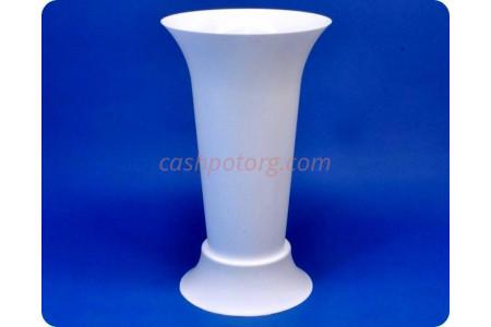 Ваза пластиковая для срезанных цветов «м5350 белая» h-31см