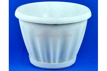 Горшок для цветов пластиковый Знатный с под.11л (мр) 603