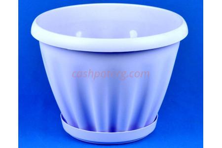 Горшок для цветов пластиковый Знатный с под.11л (сирень) 604