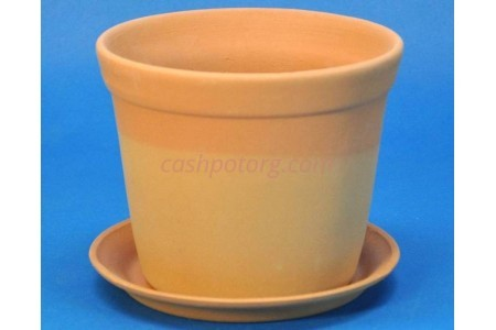 Горшок для цветов керамический с поддоном Юкка (тер) d 8см