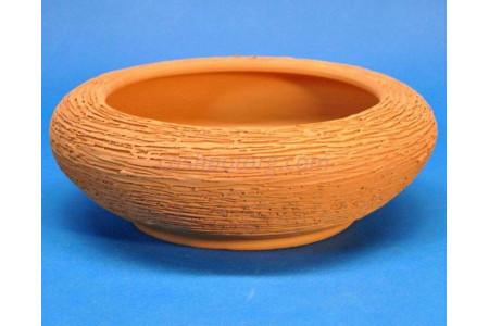 Кашпо керамическое без поддона и дренажного отверстия Плошка 22см (терракотовое)