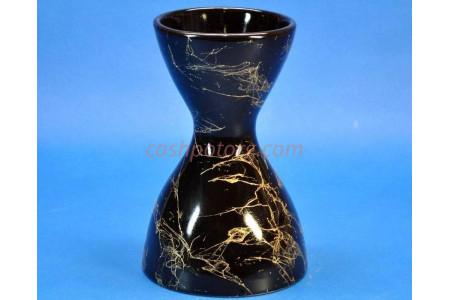 Ваза керамическая для сухоцветов  Р.ЧАСЫ черная