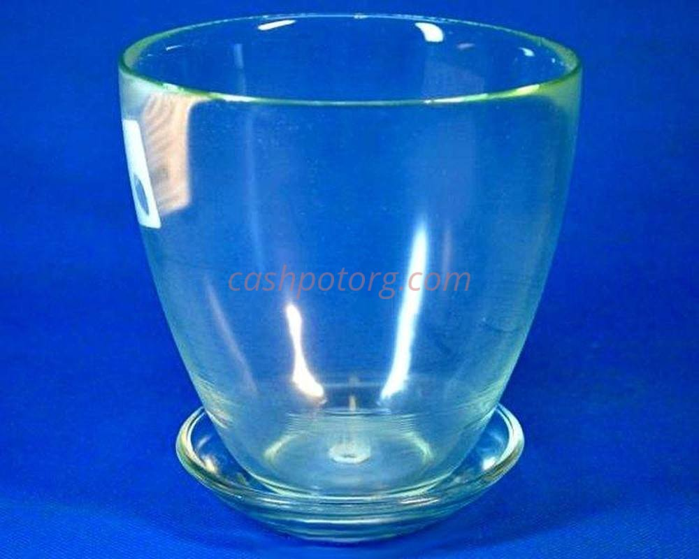 Горшок из стекла цветочный  «№2 прозрачный»