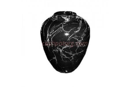Ваза керамическая для сухоцветов  ДУЭТ черная