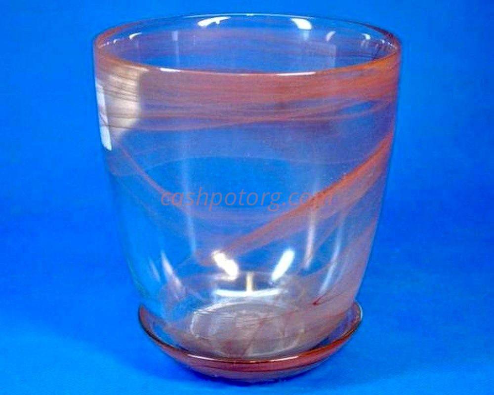 Горшок из стекла  «№3 алебастр кор.»
