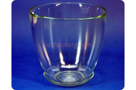 Горшок из стекла цветочный  «№5  прозрачный»