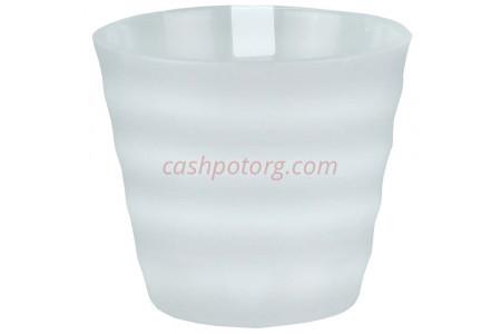 Горшок для цветов пластиковый Лаура с под. 1,4л  (прозр-прозр) ЛР1400